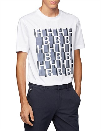 Regular-Fit Monogram-Print T-Shirt In Mercerised Cotton