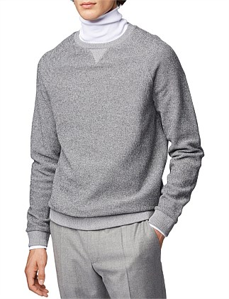 Regular-Fit Sweater In Mouline French Terry
