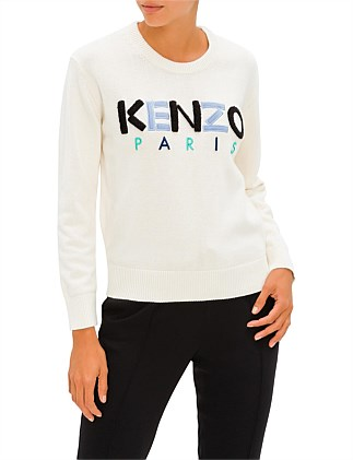 KENZO PARIS JUMPER EMBROIDERED