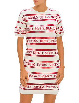 ALL OVER KENZO JACQUARD DRESS