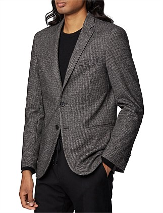 Slim-Fit Jacket In Patterned Stretch Jersey