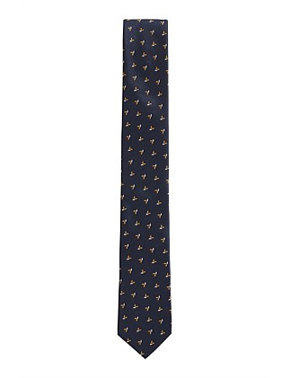 Ted Baker Wool CAMO 5.5cm Tie Navy RRP£59 Made In Italy