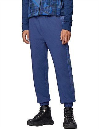 Regular-Fit Jogging Trousers With Algorithm Print