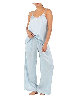 Blue Spot Luxe Wide Leg Pant And Cami