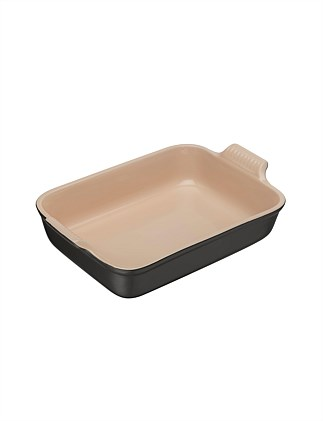 Heritage Rectangular Dish Satin Black 26cm