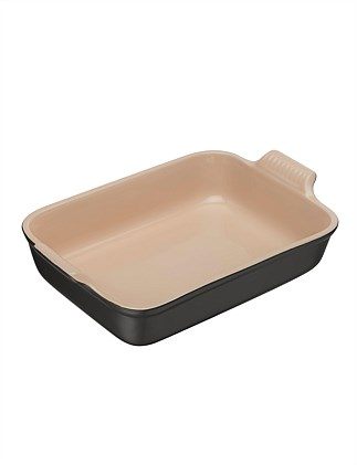 Heritage Rectangular Dish Satin Black 32cm