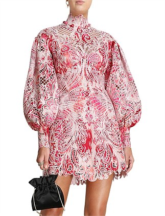 Wavelength Embroidered Mini Dress