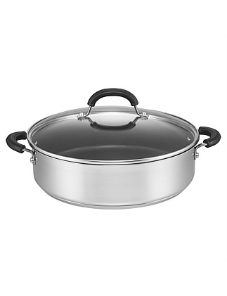 Total 30cm/5.7L Stainless Steel Covered Sauteuse