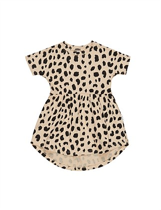Animal Spot Swirl Dress (Girls 3-8)