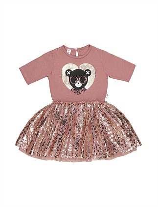 Heart Bear Ballet Dress (Girls 3-8)