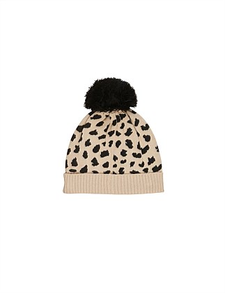 Animal Spot Knit Beanie