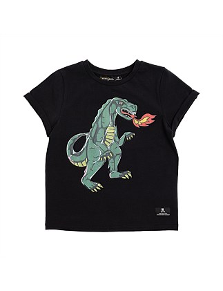 Dino Walk Acid Wash Tee (Boys 3-7)