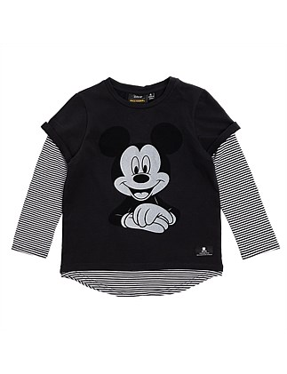 Mickey Mouse L/S Tee (Boys 3-7)
