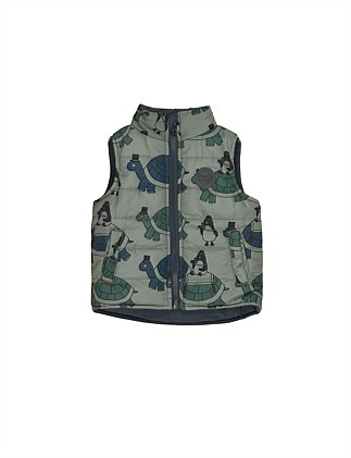 TURTLE TOUR REVERSIBLE VEST (6-12M - 2Y)