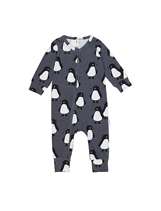 PENGUIN MARCH ZIP ROMPER (0-3M - 12-18M)