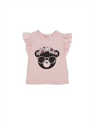 FLORAL HUX FRILL TOP (0-3M - 2Y)