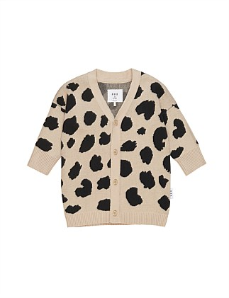 ANIMAL SPOT KNIT CARDI (3-6M - 3Y)