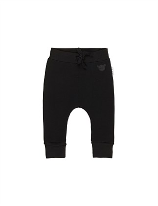 BLACK DROP CROTCH PANT (0-3M - 2Y)