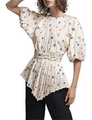 Overture Pleat Ring Blouse