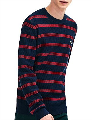CLASSIC STRIPE CREW NECK KNIT