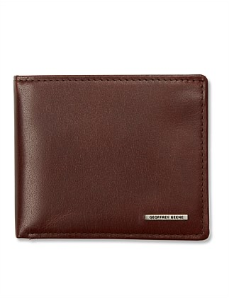 LEATHER CENTREFOLD WALLET
