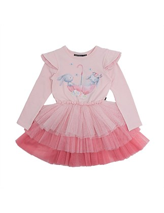 Best Bunnies L/S Tiered Tulle Circus Dress