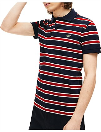 STRIPED SLIM FIT STRETCH POLO